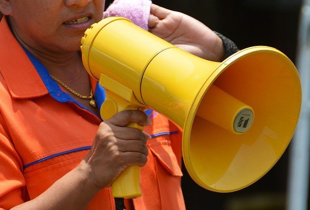 Bullhorn at a rally