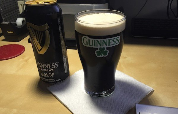 Guinness glass, can
