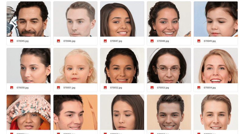 100,000 FACES GENERATED BY AI FREE FOR ANY USE