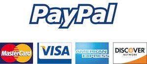PayPal and Credit Cards Accepted