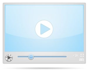 A video player in a web browser.