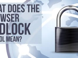What does the browser padlock symbol mean?