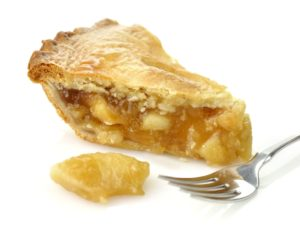 Piece of apple pie.