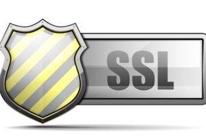 "A shield and ""SSL"""