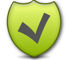 Secure shield image with checkmark