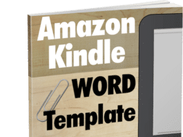 Amazon Kindle Word Template - FREE Download