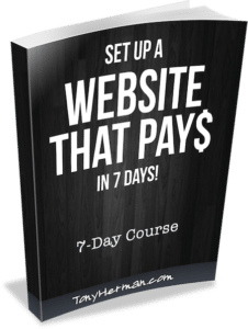 Set up a Website That Pays in 7 Days - Standard Edition