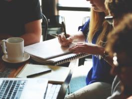 Website design meeting