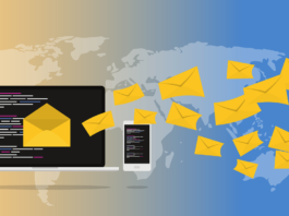 Email coming from a computer to the world