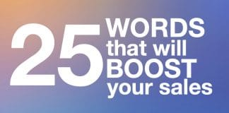 25 Words that will BOOST your sales