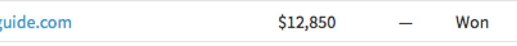 $12,850 selling price on Flippa