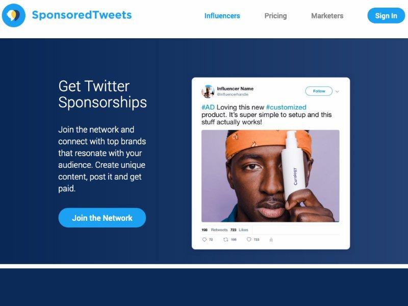 Sponsored Tweets website
