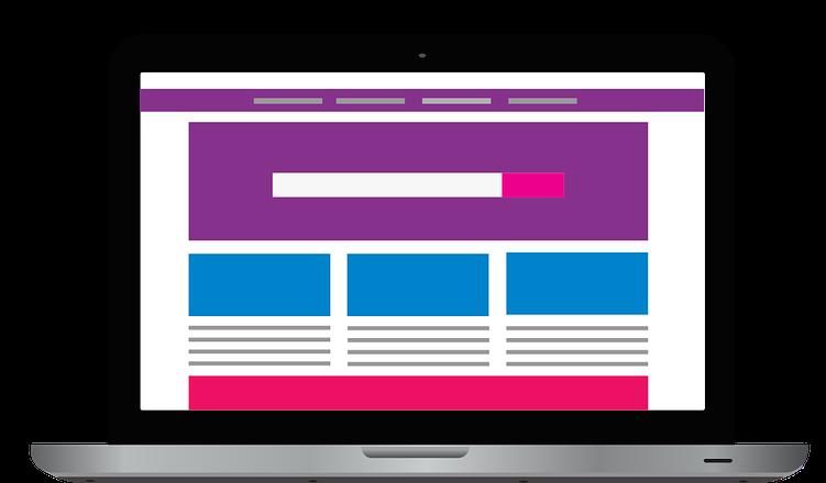 website design wireframe illustration
