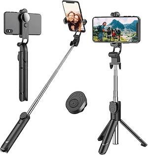 Selfie stick with tripod