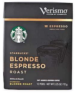 Starbucks Blonde Espresso Roast Espresso Verismo Pods