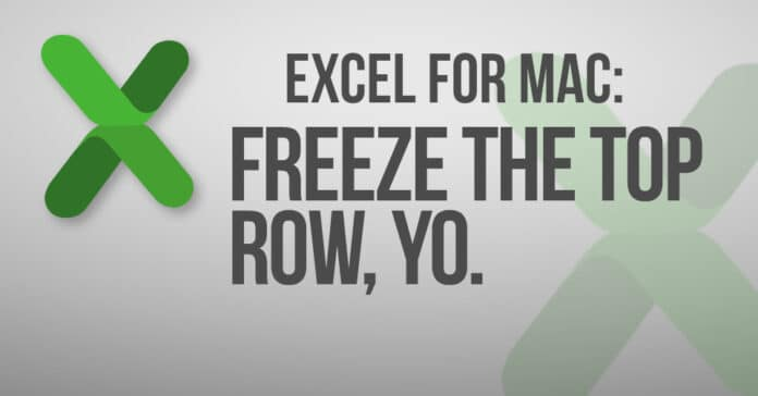 Excel for Mac: Freeze the Top Row, Yo.