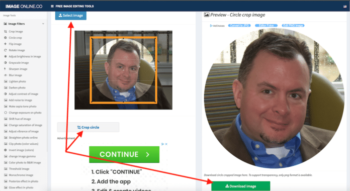 How to create a circle profile image of yourself