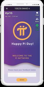 Pi coin app on a phone